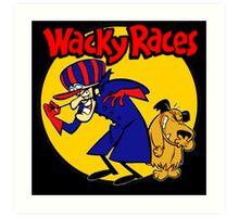 Wacky Races Boy and Dog Art Print