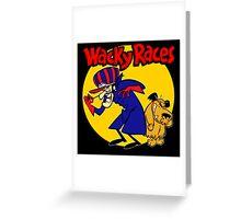 Wacky Races Boy and Dog Greeting Card