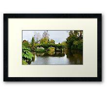 Medieval bridge river Avon Framed Print