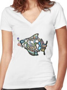 Phish Rock Band Women's Fitted V-Neck T-Shirt