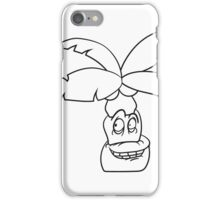 comic cartoon funny sweet small cute palm face, grinning monster iPhone Case/Skin