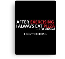 exercise Canvas Print