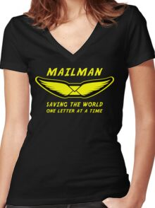 Mailman Women's Fitted V-Neck T-Shirt