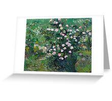 1889-Vincent van Gogh-Roses-33x41,3 Greeting Card