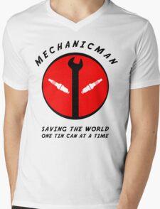 Mechanicman Mens V-Neck T-Shirt