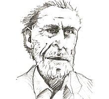 Bukowski Pencil Sketch by Bristol Noir
