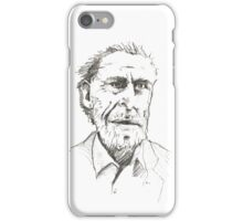 Bukowski Pencil Sketch iPhone Case/Skin