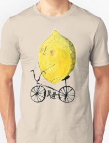 peaceful lemon riding a bike T-Shirt
