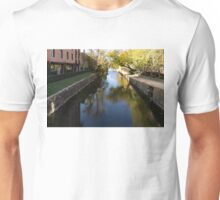 Sunny Towpath - Reflections in Chesapeake and Ohio Canal in Georgetown, Washington, DC Unisex T-Shirt