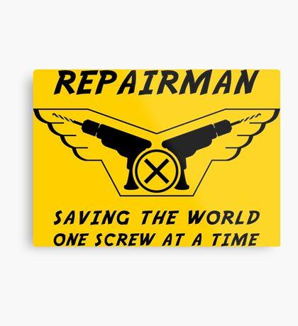 Repairman Metal Print
