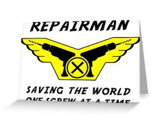 Repairman Greeting Card