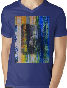 Spouse in the Forest - Original Wall Modern Abstract Art Painting Mens V-Neck T-Shirt
