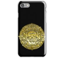 Gold Money pirate coin with a skull iPhone Case/Skin