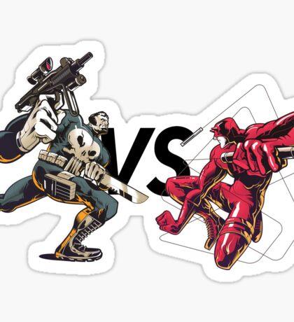 the punisher vs daredevil - DC COMICS  Sticker