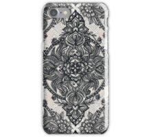 Charcoal Lace Pencil Doodle iPhone Case/Skin