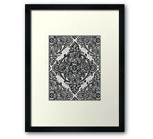 Charcoal Lace Pencil Doodle Framed Print