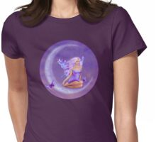 Lavender Moon Butterfly Fairy Womens Fitted T-Shirt