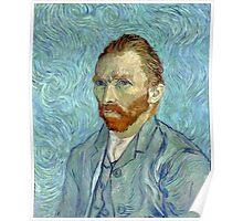 1889-Vincent van Gogh-Self-portrait-54x65 Poster
