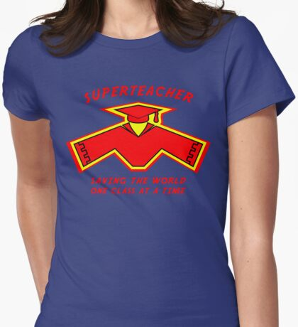 Superteacher Womens Fitted T-Shirt