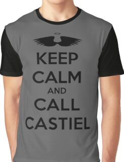 KEEP CALM - Keep Calm and Call Castiel // Supernatural SPN Graphic T-Shirt