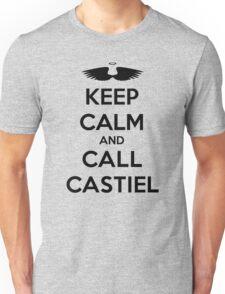 KEEP CALM - Keep Calm and Call Castiel // Supernatural SPN Unisex T-Shirt