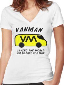 Vanman Women's Fitted V-Neck T-Shirt