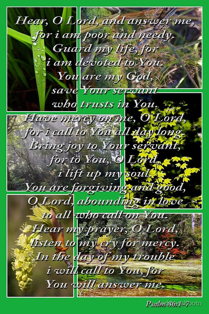 psalm 86:1-7 collage by dedmanshootn