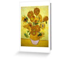 1889-Vincent van Gogh-Sunflowers-73x95 Greeting Card