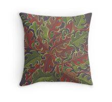 Oak leaves - Tataro pattern Throw Pillow