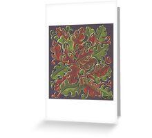 Oak leaves - Tataro pattern Greeting Card