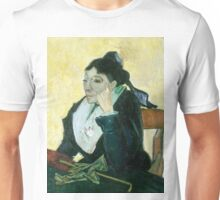 1889-Vincent van Gogh-The Arlesienne-73x92 Unisex T-Shirt