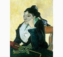 1889-Vincent van Gogh-The Arlesienne-73x92 Unisex T-Shirt