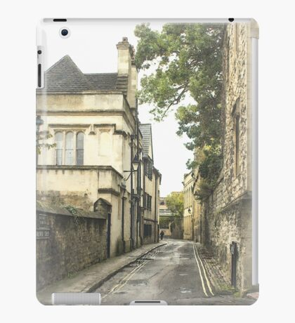 Old street in Oxford, England iPad Case/Skin