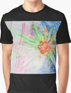 Flower of Sun, Sun of Flower - Original Wall Modern Abstract Art Painting Original mixed media Graphic T-Shirt