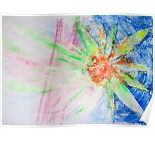Flower of Sun, Sun of Flower - Original Wall Modern Abstract Art Painting Original mixed media Poster