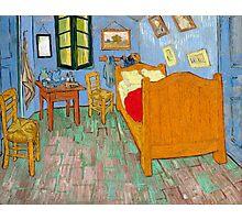 1889-Vincent van Gogh-The bedroom-73,6x92,3 Photographic Print