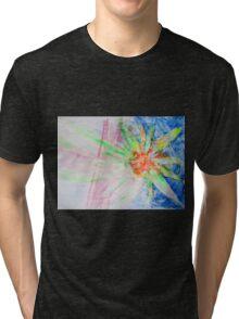 Flower of Sun, Sun of Flower - Original Wall Modern Abstract Art Painting Original mixed media Tri-blend T-Shirt