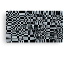 Abstract of black and white crossing pattern  Canvas Print