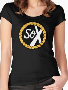 SoX - Chance The Rapper & The Social Experiment LARGE LOGO Women's Fitted Scoop T-Shirt