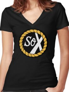 SoX - Chance The Rapper & The Social Experiment LARGE LOGO Women's Fitted V-Neck T-Shirt