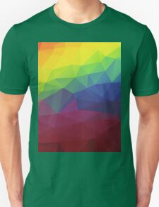 Colorful Abstract Geometric Triangles Pattern T-Shirt