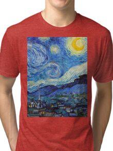 1889-Vincent van Gogh-The Starry Night-73x92 Tri-blend T-Shirt