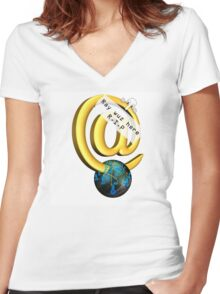 Ray Tomlinson Salute Women's Fitted V-Neck T-Shirt