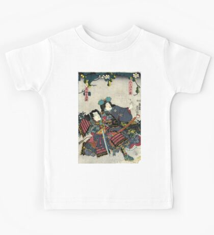 Kunisada Utagawa - Miaso Gozen - Circa 1860 - Woodcut Kids Tee