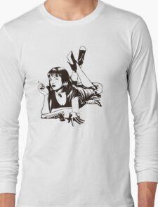 Pulp Movie Illustration Long Sleeve T-Shirt
