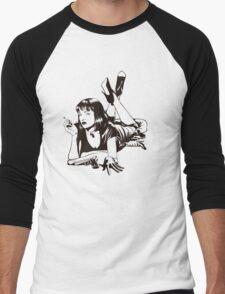 Pulp Movie Illustration Men's Baseball ¾ T-Shirt