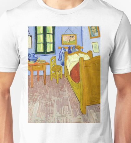 1889-Vincent van Gogh-Van Gogh's Bedroom in Arles-57x74 Unisex T-Shirt