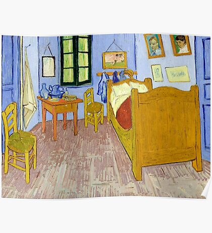1889-Vincent van Gogh-Van Gogh's Bedroom in Arles-57x74 Poster