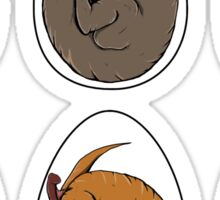 Baby Dinosaurs in Eggs Sticker