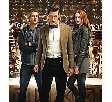 Doctor Who with Daleks Photographic Print